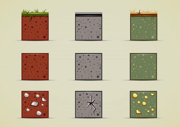 Bodensprites sammlung