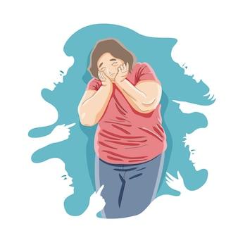 Body shaming und mobbing konzept
