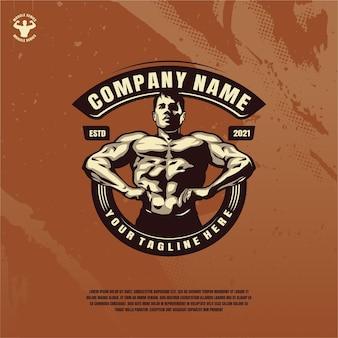 Bodybuilder fitness modell illustration