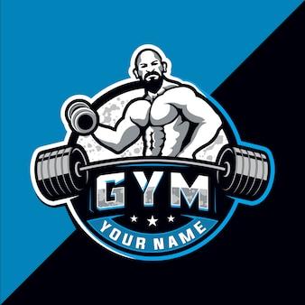 Bodybuilding und fitnessstudio esport logo design