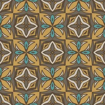Böhmisches ethnisches nahtloses muster der abstrakten geometrischen fliesen dekorativ. Premium Vektoren