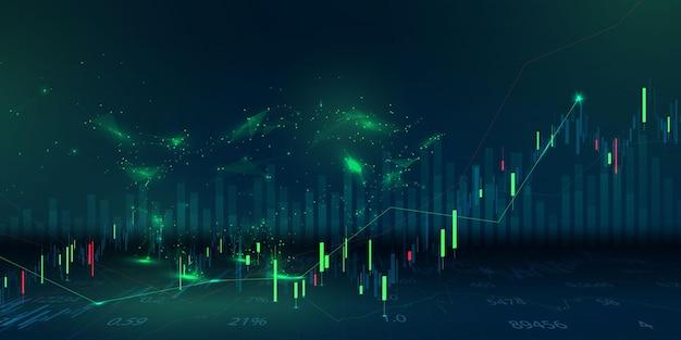 Börse, wirtschaftsdiagramm mit diagrammen