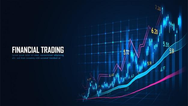 Börsen- oder devisenhandelsdiagramm im grafikkonzept