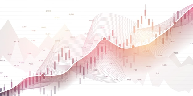 Börsendiagramm oder forex-handelsdiagramm und finanzkonzepte.