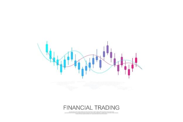 Börsengeschäftsdiagramm für finanzinvestitionskonzept