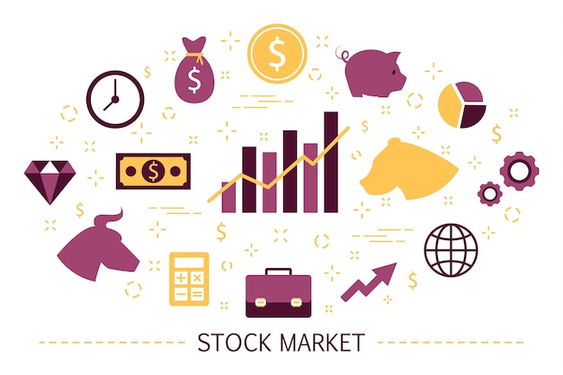 Börsenkonzept. bull and bear strategie. finanziell