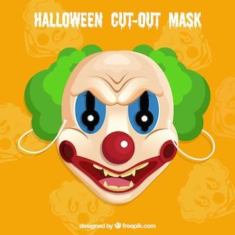 Böse clownmaske
