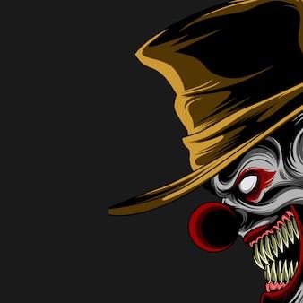 Böses clownplakat
