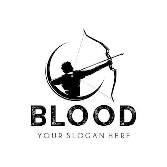 Bogenschießen logo design vorlage