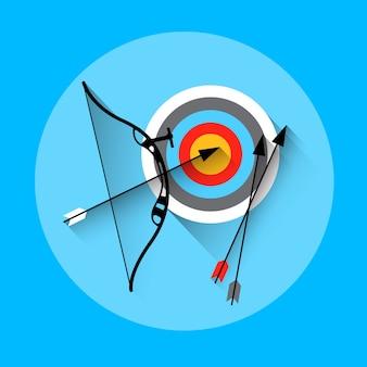 Bogenschießen pfeil ziel ausrüstung sport icon