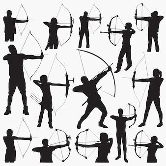 Bogenschützen-silhouetten