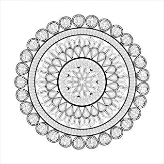 Bohemisches konzept durch mandale-symbol dargestellt