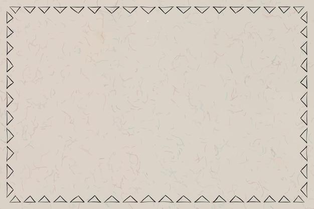 Boho art tribal doodle skizze tipi rahmen