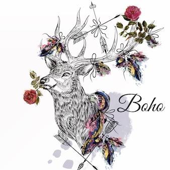 Boho hintergrund-design