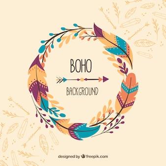 Boho-hintergrund im hippie-stil