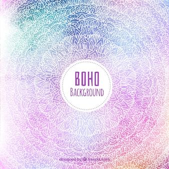 Boho hintergrund mit hippie-elementen