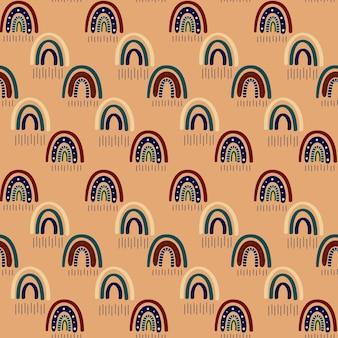 Boho regenbogen nahtloses muster