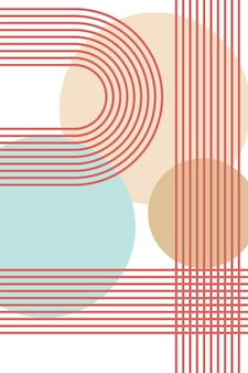 Boho regenbogen skandinavischer regenbogen boho innenplakat stock vector illustration