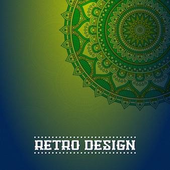 Boho-stil hintergrund design