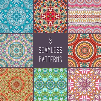 Boho-Stil Muster Sammlung