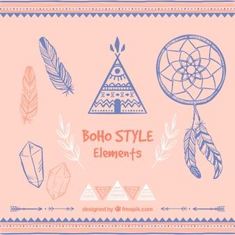 Boho style-elemente