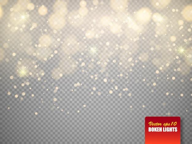 Bokeh beleuchtet abstrakte magie unscharfe glühende partikel