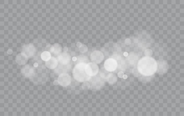 Bokeh beleuchtet isolierte transparente unscharfe formen abstrakten lichteffekt