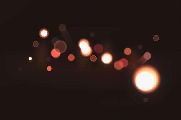 Bokeh-effekt auf dunklem hintergrund