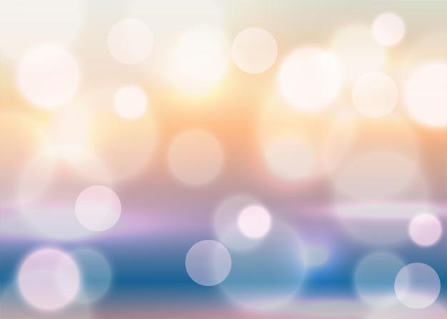 Bokeh-effekt-hintergrund mit weicher farbverlaufsfarbe