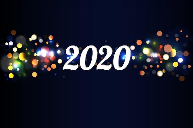 Bokeh funkeln weihnachten 2020