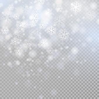 Bokeh hellgrau funkelt auf transparenz hintergrund leuchtende partikel element für spezialeffekte.