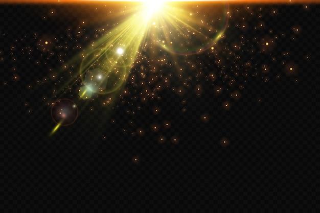 Bokeh-hintergrund mit funkelnder heller sonne lichteffekt helle partikel