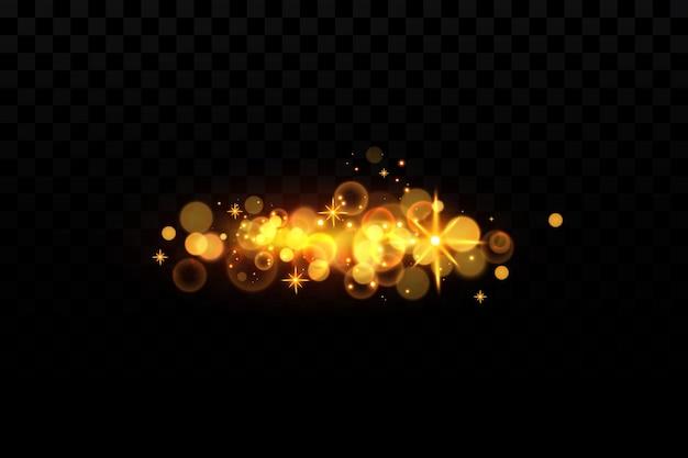 Bokeh hintergrund mit goldenen glitzern