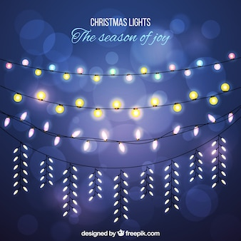 Bokeh hintergrund mit schönen weihnachtsbeleuchtung