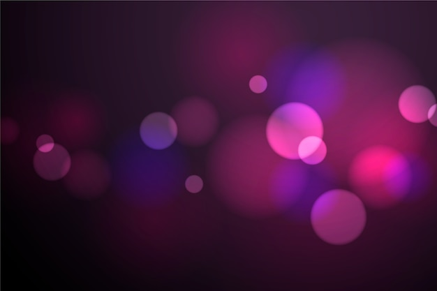 Bokeh-lichteffekt auf dunklen hintergrund