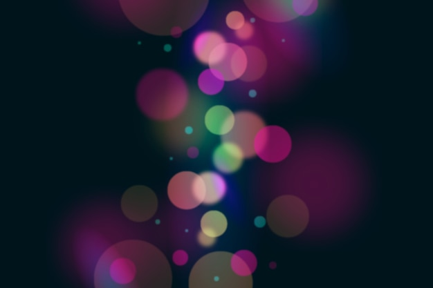 Bokeh lichteffekt hintergrund dunkel