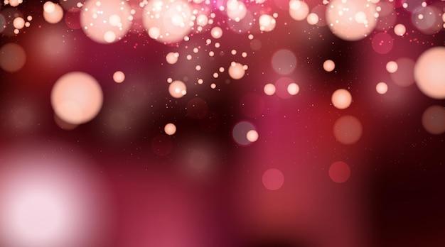 Bokeh lichter effekt mit rotem hintergrund