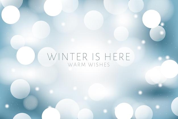 Bokeh lichter im winterhintergrund