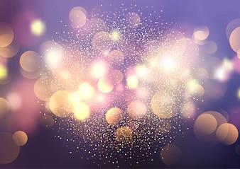 Bokeh Lichter und Glitter Hintergrund