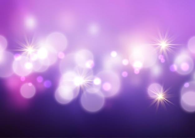 Bokeh lichter und sterne hintergrund