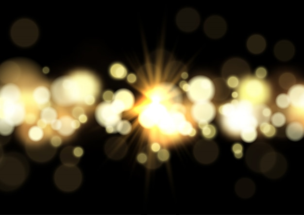 Bokeh lichter und sternexplosionhintergrund