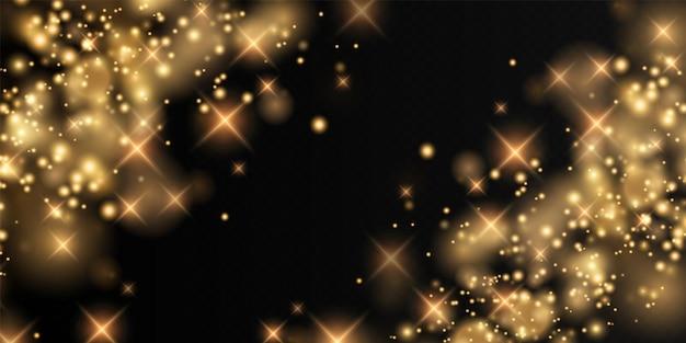 Bokeh lichtlichteffekt hintergrund weihnachtshintergrund von leuchtendem staub weihnachtsglühend