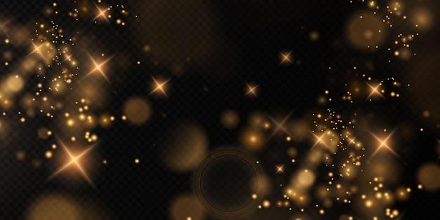 Bokeh lichtlichteffekt hintergrund weihnachtshintergrund von leuchtendem staub weihnachtsglühendes bokeh