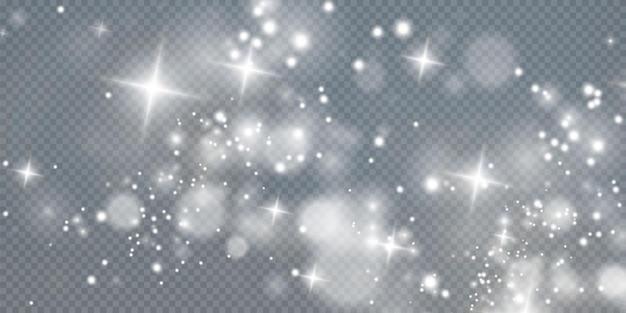 Bokeh lichtlichteffekt hintergrund weihnachtshintergrund von leuchtendem staub weihnachtsglühendes licht