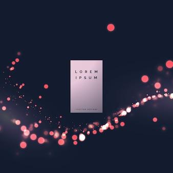 Bokeh partikel funkeln schönen hintergrund