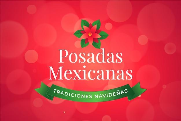 Bokeh posadas mexicanas hintergrund