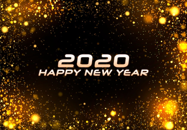 Bokeh-schein weihnachten 2020 hintergrund, lichter des neuen jahres.