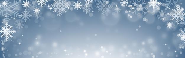 Bokeh verschwommen schneeflocken