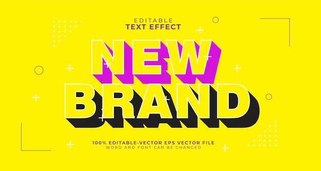 Bold shadow editable text effect