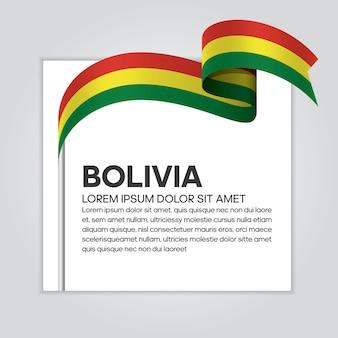 Bolivien-bandflagge, vektorillustration auf weißem hintergrund